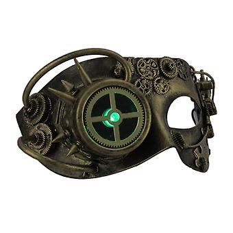 金属スチーム パンクなアイマスクを男ドロイド LED ライト