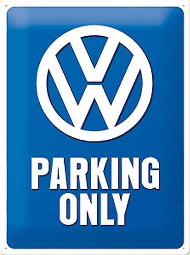 VW Parking Only embossed metal sign    (na 3020)