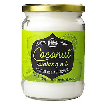 Olio da cucina di cocco biologico 500ml - la società di noce di cocco
