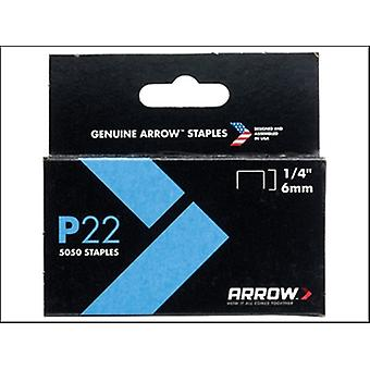 Arrow P22 Staples 6mm (1/4in) Box 5050