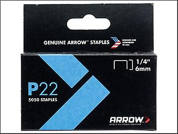P22 freccia Staples 6mm (1/4 in) casella 5050