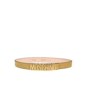Moschino Gold Leather Belt