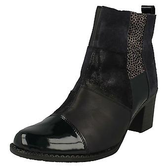 Ladies Rieker Patchwork Ankle Boots Z7686