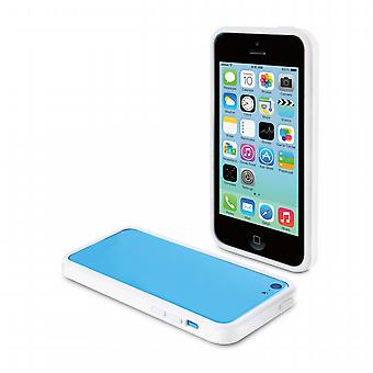 Founded iBelt (Bumper) White + Screen Protector Apple iPhone 5 c Muvit