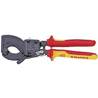 Ratcheting cable cutter Suitable for (cable stripping) Single/multi-core aluminium and copper cables 32 mm 240 mm² Knipex 95 36 250