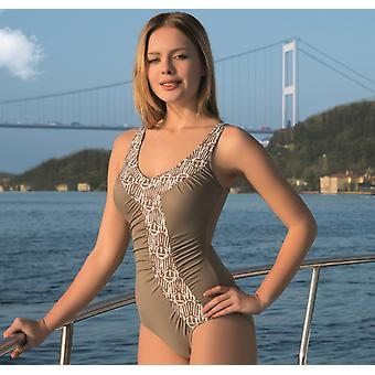 Aqua Perla - Womens  - Costa Rica - Beige- One Piece Swimwear