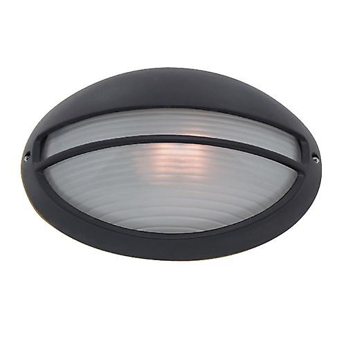 Searchlight 5544BK Outdoor Black Oval Aluminium With Opal Glass IP44 Rated