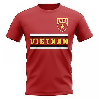 Vietnam Core Football Country T-paita (punainen)