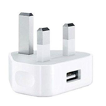 Apple iPhone/ iPod Wall Plug Smartphone/Mobile Phone AC USB Charger (Blanc) - Isix