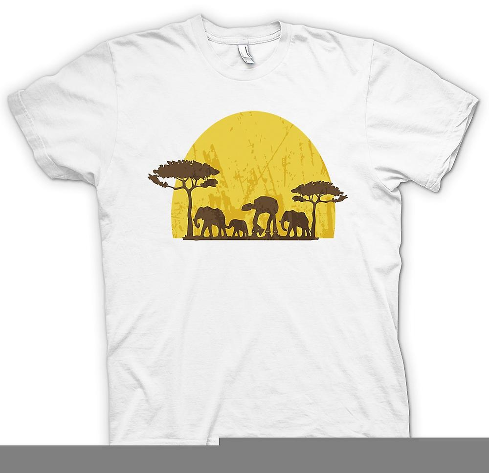 Womens T-shirt - Star Wars Safari - Elephant and ATAT