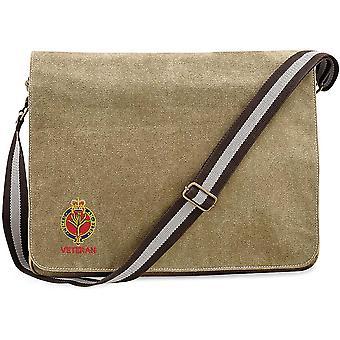 Walisische Wachen Veteran - lizenzierte britische Armee bestickt Vintage Leinwand Versand Messenger Tasche