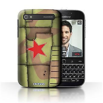 STUFF4 Case/Cover voor Blackberry Classic/Q20/Sovjet/Groen/Airplane Fighter Wing