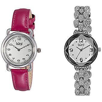 Burgi BUR133SS Set analog quartz wrist watch, analog, female, 2 Pieces