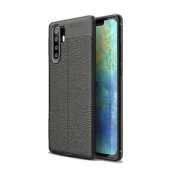 Huawei P30 Case Pro Texture Inlay Back Shell Black