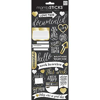 Specialty Stickers-Chalk - Love This Gold Foil SPX-281