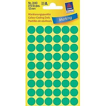 Avery Labels 3143 12Mm Mark Green Point