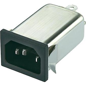 Mains filter + IEC socket 250 Vac 6 A 0.7 mH (L x W x H) 59.5 x 29 x 22 mm Yunpen YO06T1 1 pc(s)