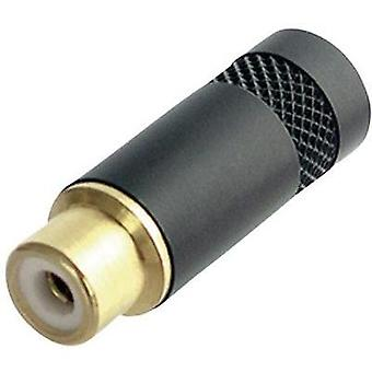 RCA connector Socket, straight Number of pins: 2 Black Neutrik NYS372-P-BG 1 pc(s)