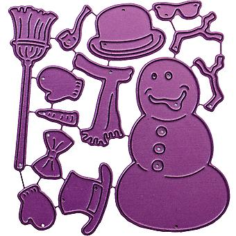 Cheery Lynn Designs Die-Build-A-Snowman, .625