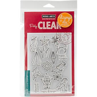 Hero Arts Clear Stamp & Die Combo-Origami Holiday HA-SB123