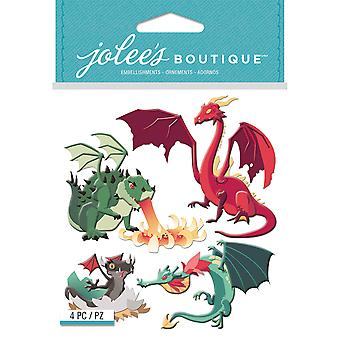 Jolee's Boutique Dimensional Stickers-Dragons E5021943