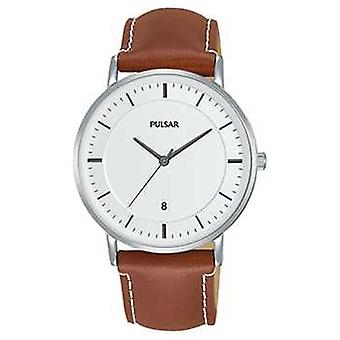 Pulsar Gents Brown Leather PG8253X1 Watch