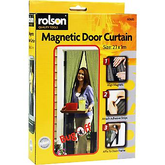 Magnetic Door Curtain with two mesh door screens