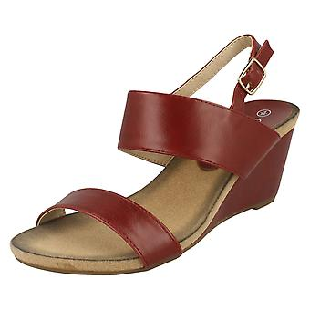 Ladies Eaze Open Toe Wedge Mules