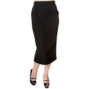 Banned Apparel Banned Apparel 50's Style  Long Midi Pencil Wiggle Skirt