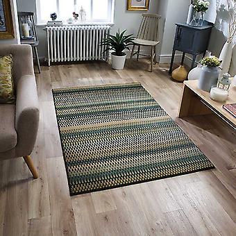 Apolo tejedores 2721 E rectángulo azul amarillo verde alfombras modernas alfombras