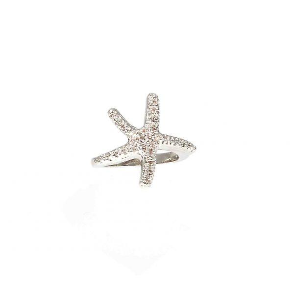 W.A.T Silver Style Starfish Ring