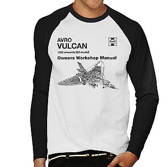 Haynes Owners Workshop Manual Avro Vulcan 1952 B2 Men's Baseball Long Sleeved T-Shirt