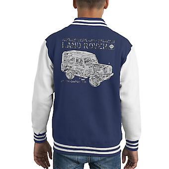 Haynes Workshop Manual Land Rover Camo Black Kid's Varsity Jacket