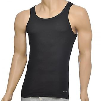 HUGO BOSS Excite Premium Cotton Rib Tank Top, Black, Small