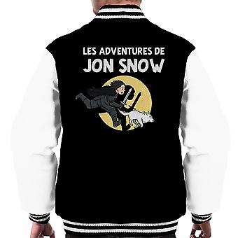 Les Adventures De Jon Snow Tintin Game Of Thrones Men's Varsity Jacket
