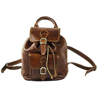David Van Hagen Leather Backpack - Brown