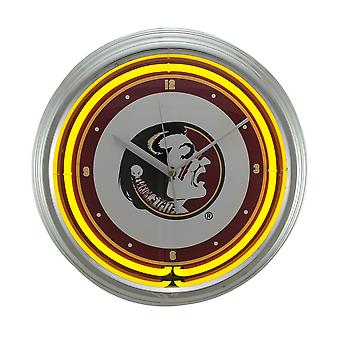 NCAA Florida State Seminoles 15 inch Neon Wall or Tabletop Clock