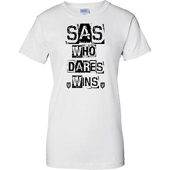 SAS Special Air Service, Who Dares Wins - forze speciali Motto - Ladies T Shirt