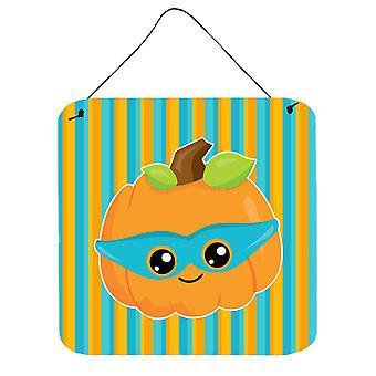 Halloween pumpa superhjälte väggen eller dörren hängande utskrifter