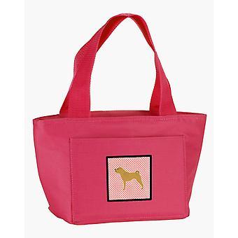Carolines Schätze BB3652PK-8808 Shar-Pei frohe Schachbrett Pink Lunch-Bag
