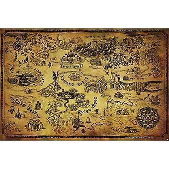 Zelda - kart plakatutskrift plakat