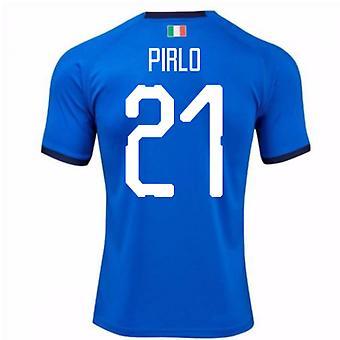 2018-19 Italy Home Shirt (Pirlo 21) - Kids