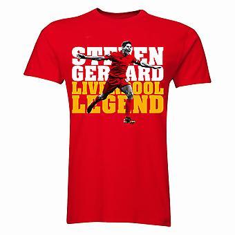 Steven Gerrard Liverpool Player t-shirt (rosso)