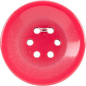 6 Hole Buttons-Small Red 1