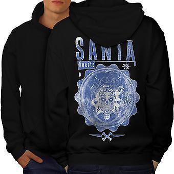 Santa Muerte Männer BlackHoodie Rücken | Wellcoda