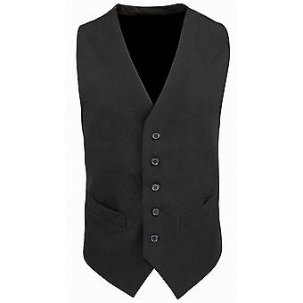 Premier Mens Lined Polyester Waistcoat / Catering / Bar Wear
