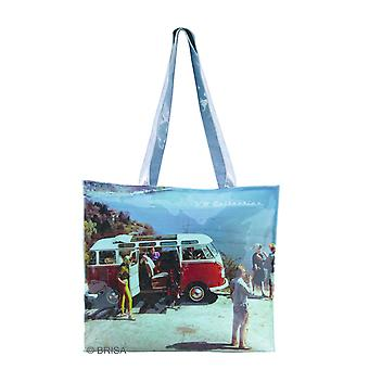 VW Collection Campervan Print PVC Shopping Tote Bag