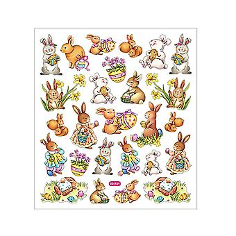 Easter Bunny Foiled Sticker Sheet for Crafts | Childrens Craft Stickers