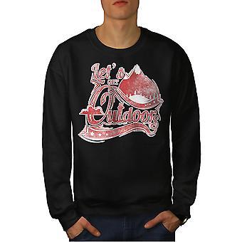 Lets Get im freien Männer BlackSweatshirt | Wellcoda