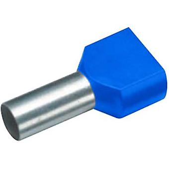 Twin ferrule 2 x 2.50 mm² x 13 mm Partially insulated Blue Cimco